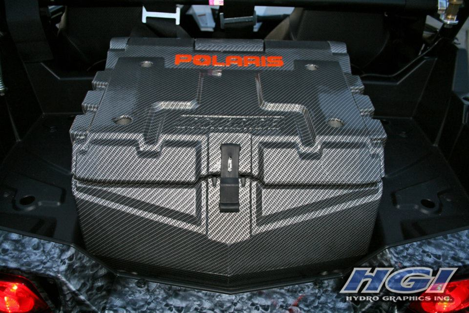 Polaris RZR with carbon fiber and Reaper HydroSkin® finishes