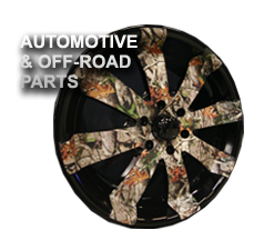 water transfer printing for auto parts and off road parrs