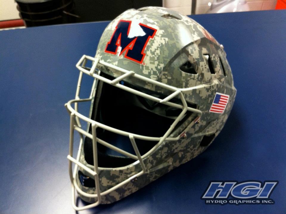 Pubg Mobile Helmet Wallpaper Pubg Pubgwallpapers: Ole Miss Baseball Helmets Finished In Digital Camo